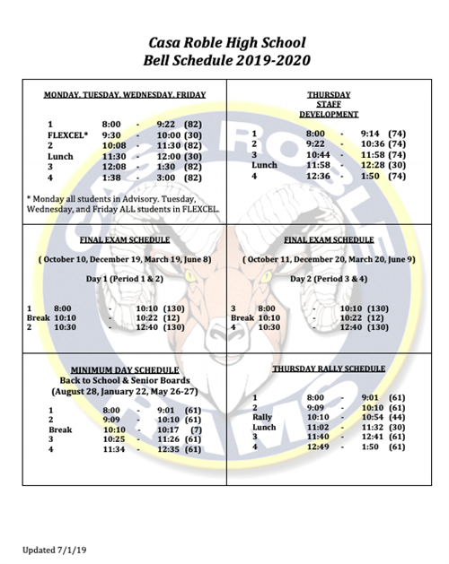 Bell Schedule / Blank Page