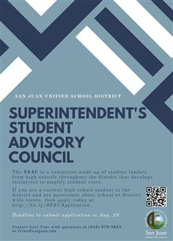 Student Advisory Council Advertisement