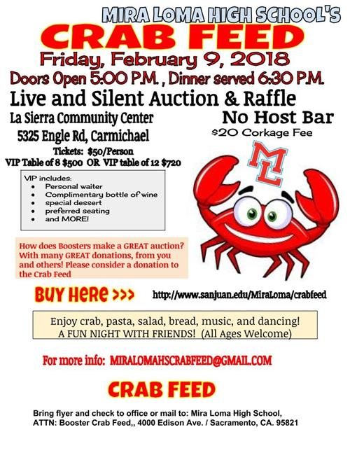 parent groups    booster club crab feed