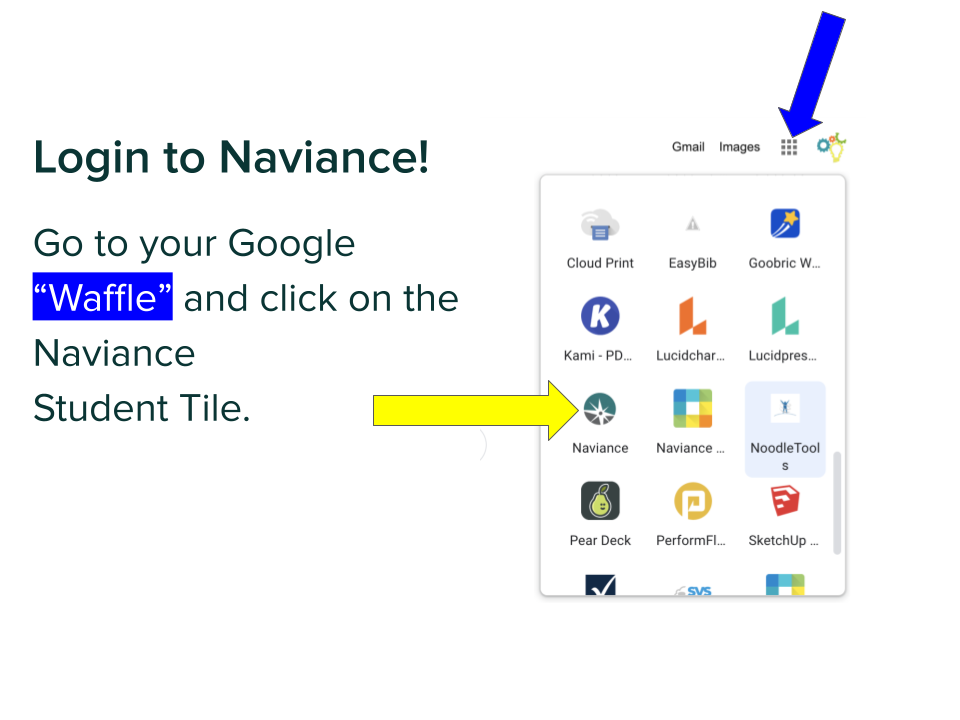 Login to Naviance through Google Waffle