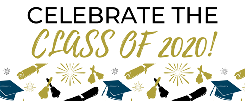 Celebrate the class of 2020! with graduation caps