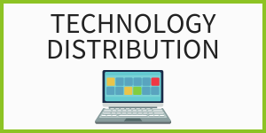 Technology distribution with laptop image