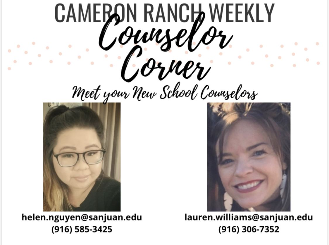 Cameron Ranch Weekly Counselor Corner with Helen and Lauren