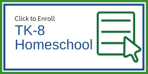 Graphic image for a button leading to the enrollment for for TK-8 homeschool