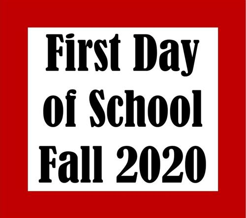 first day of school fall 2020