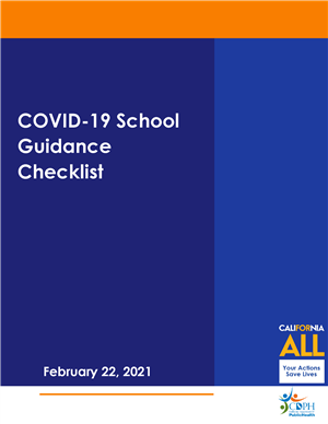 Cover sheet of school guidance checklist