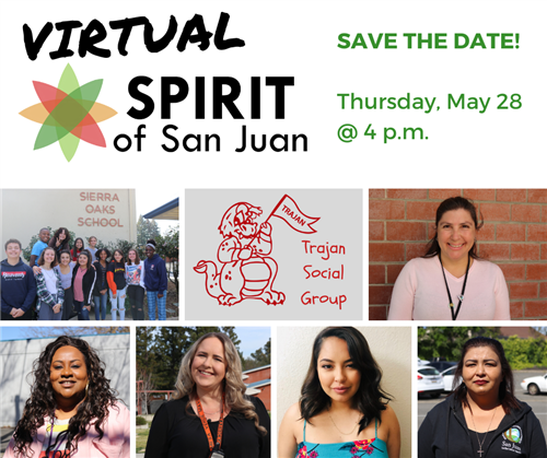 Virtual Spirit of San Juan Save the date! Thursday, May 28 @ 4 p.m. with photos of 7 honorees