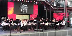 Arcade Middle School band at Disney California Adventure